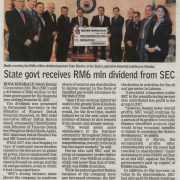 State govt receives RM6 Million dividend from SEC